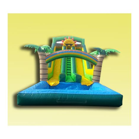 Tropical Sunshine Dual Lane Water Slide at San Diego