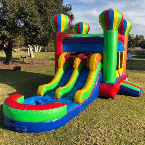 Dual Lane Balloon Water Slide Combo Jumper in San Diego